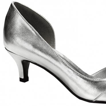 Pantofi de mireasa argintii