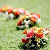 Aranjamente florale pentru nunti in aer liber