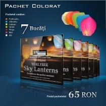 Lampioane zburatoare colorate - set mixt