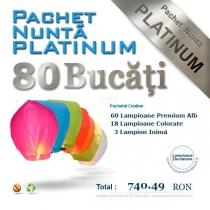 Pachet 80 lampioane zburatoare - platinum