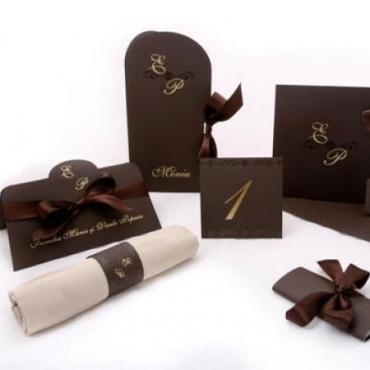 Set Invitatii nunta Dark Chocolate