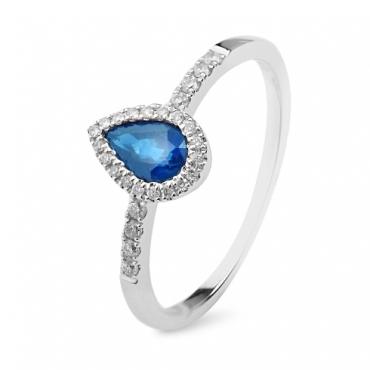 Inel Adelle - safir si diamante