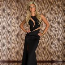 Rochie lunga eleganta de seara Seductive Black