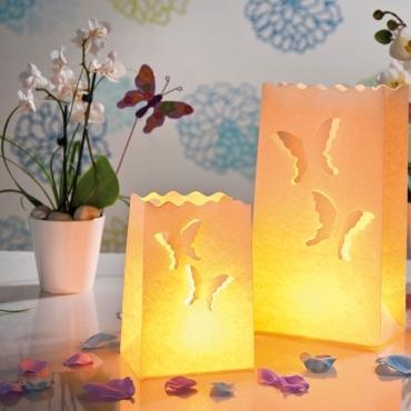 Pachet mixt fluturi - lampioane decorative pentru nunta