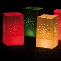 Set 12 lampioane decorative colorate