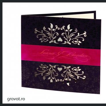 Invitatie nunta vintage flowers of love