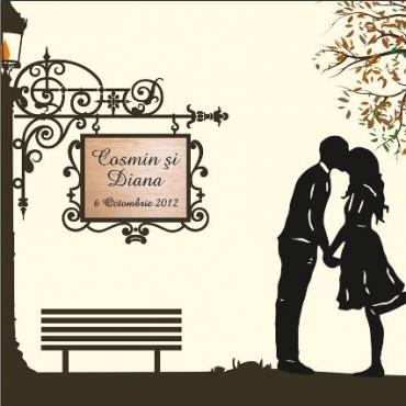 Invitatie nunta primul sarut