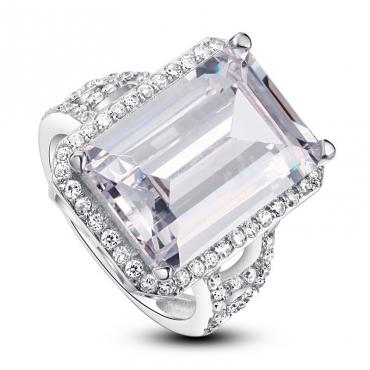 Inel de logodna argint si cristal