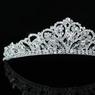 Tiara mireasa cu cristale swarovski