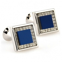 Butoni mire swarovski - sophisticated blue