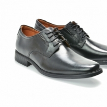 Pantofi mire Clarks, negri din piele naturala