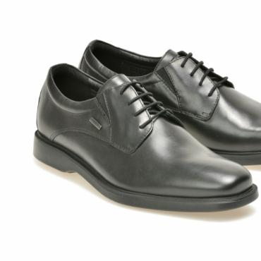Pantofi negri din piele naturala - Otter