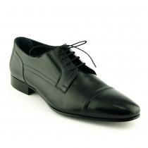Pantofi mire negri din piele naturala - Mario Fellini