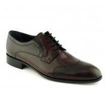 Pantofi visinii din piele naturala - Mario Fellini