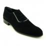 Pantofi mire negri, din piele intoarsa - Mario Fellini