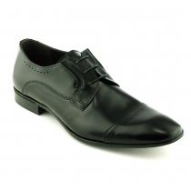 Pantofi mire negri, din piele naturala lucioasa - Class Man