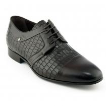 Pantofi maro din piele croco - Mario Fellini