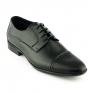 Pantofi mire negri, model clasic, din piele naturala - Class Man