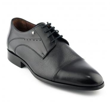 Pantofi mire negri, din piele naturala - Le Colonel
