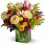 Aranjament nunta cu trandafiri si lalele