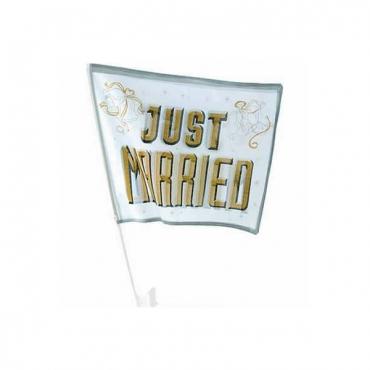 Steag just married pentru masina mirilor