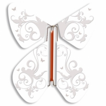 Fluture Zburator Alb Baroc