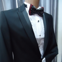 Costum de ginere negru - Slim Fit