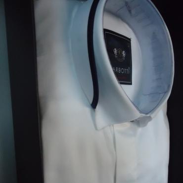 Camasa mire alba slim fit