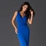 Rochie de ocazie albastra din jerse fin