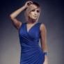 Rochie de seara albastra fara maneci