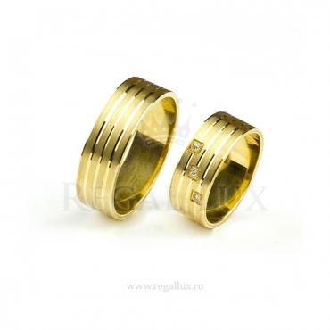 Verighete aur cu zirconiu