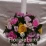 Lumanare de nunta eleganta cu trandafiri si orhidee
