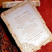Invitatii de nunta tip papirus