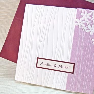 Invitatie nunta clasica tip relief