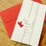 Invitatie de nunta cu rosu