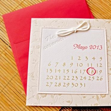 Invitatie de nunta tip calendar