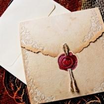 Invitatie nunta cu sigiliu