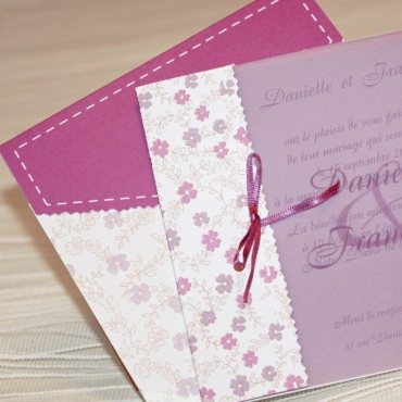 Invitatie nunta cu foaie de calc