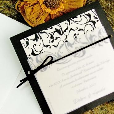 Invitatie de nunta cu model