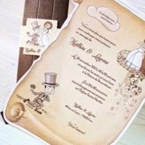 Invitatie de nunta papirus - comica