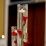 Aranjament floral in cilindrii cu apa