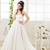 Rochie White Roses