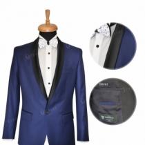 Costum doua piese  -  Blue contrast smoking