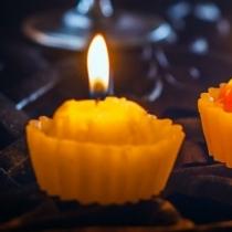 Lumanari cupcakes pentru nunta