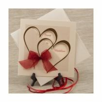 Invitatii de nunta cu inimioara