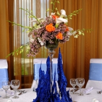 Suport de sticla tip vaza - Neo Event Blue Ocean
