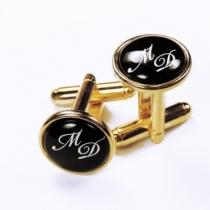 Butoni personalizaţi cu monogramă placaţi cu aur