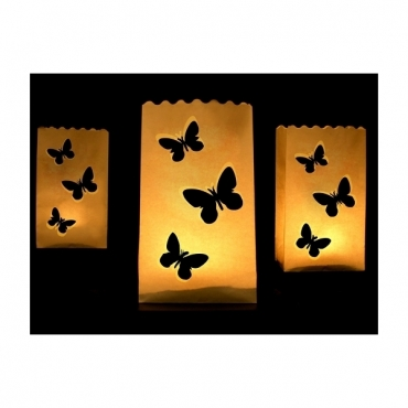 Lampioane decorative - fluturi, 10buc / set