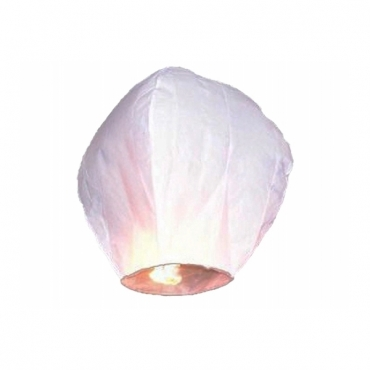 50 lampioane zburatoare albe +2 lampioane zburatoare inima rosie CADOU