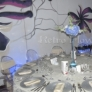 Aranjamente restaurant cu hortensia si orhidee